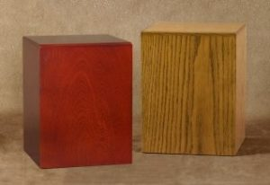 Vista Oak & Cherry Urns (+$80.00)