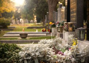 Burying cremated remains is a common practice, like at this cemetery.