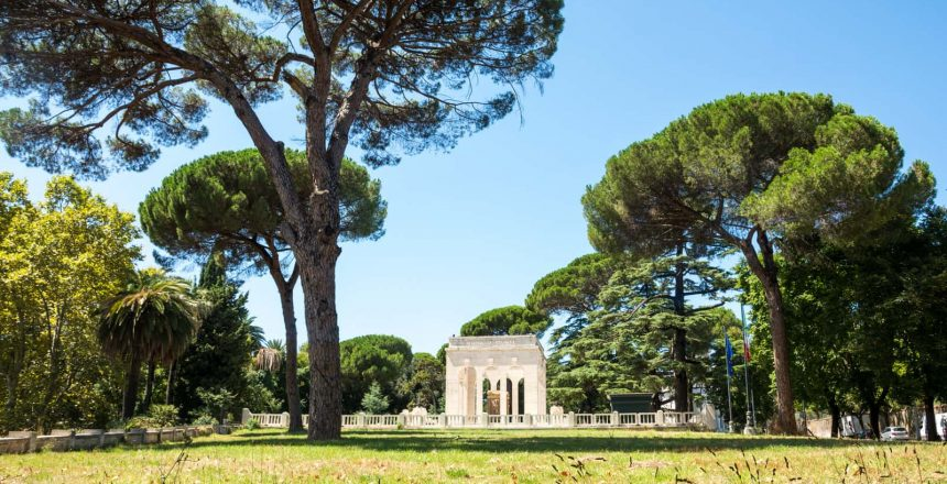 Cremation Planning. A mausoleum on a spring day. Understanding the cremation process often means having a memorial ceremony.